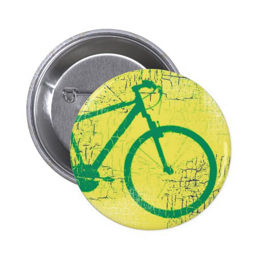 verde circular de la bicicleta pins