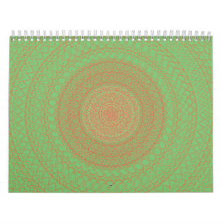 Verde circular del modelo calendario