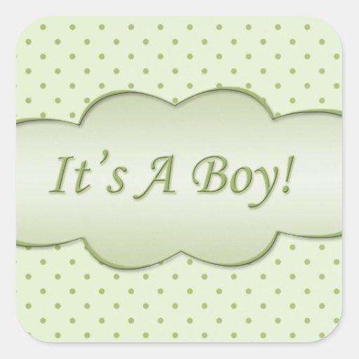 ¡Verde claro es un muchacho! Pegatina Cuadrada