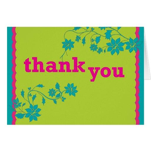 Verde claro - la vid le agradece cardar tarjeta de felicitación