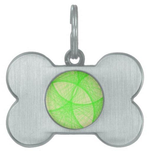 verde claro placas de nombre de mascota