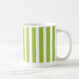 verde claro rayado, chartreuse, taza