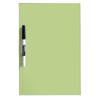Verde claro sólido tablero blanco