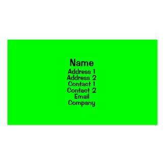 Verde claro plantilla de tarjeta de visita