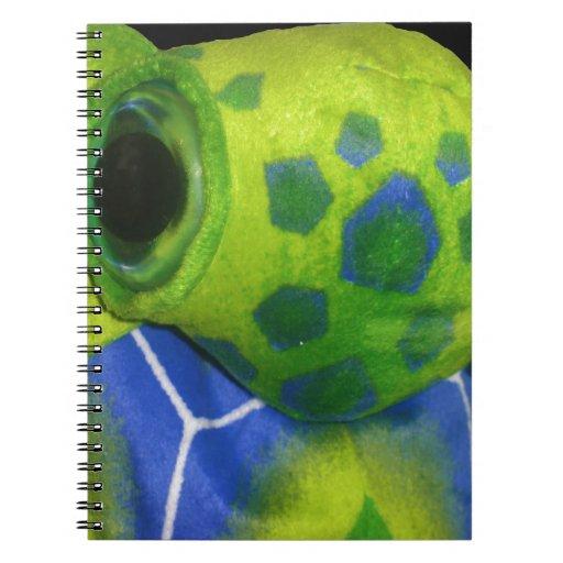 Verde colorido de la tortuga gruñona libretas
