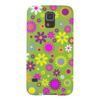 Verde colorido de Scrapbooking del estampado de Funda Para Galaxy S5