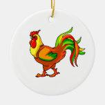 verde colorido graphic.png rojo de la cola del gal ornamento para arbol de navidad