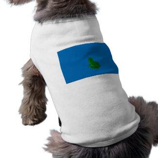 verde colorized contra el azul que mira para ropa perro