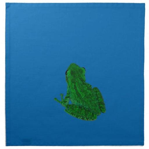 verde colorized contra el azul que mira para servilletas imprimidas
