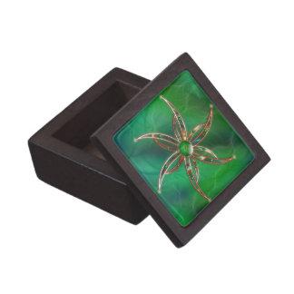 Verde como la caja de regalo superior de la hierba cajas de joyas de calidad