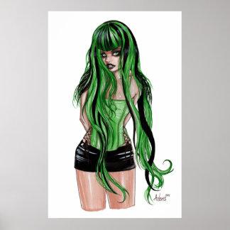Verde con envidia póster
