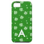 Verde con la caja blanca de los tréboles iPhone 5 protector