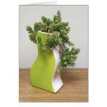 Verde con la envidia - la planta perfecta tarjeta