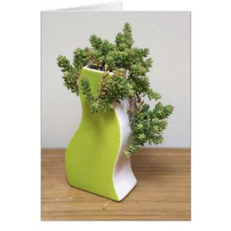 Verde con la envidia - la planta perfecta tarjeta de felicitación