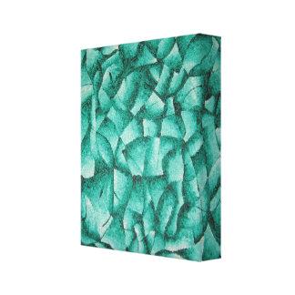 Verde con la lona del extracto de la envidia lona estirada galerias