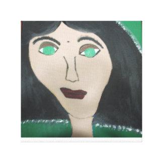 Verde con la lona envuelta envidia impresión en lienzo estirada