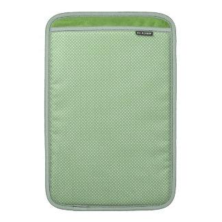 Verde con los puntos blancos simples funda para macbook air