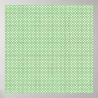 Verde con los puntos blancos simples impresiones