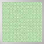 Verde con los puntos blancos simples póster