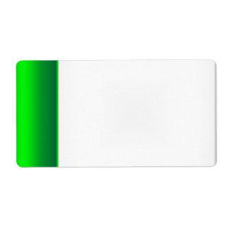 Verde conocido de la etiqueta de la etiqueta del f etiquetas de envío