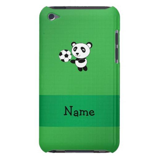 Verde conocido personalizado de la panda del fútbo iPod Case-Mate coberturas