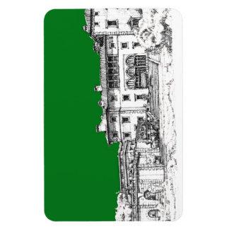 Verde constructivo del renacimiento iman de vinilo