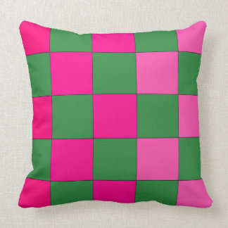 Verde CricketDiane del rosa del arte pop del Cojín Decorativo