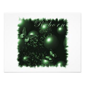 Verde cristiano del arte de las mariposas renacida anuncios