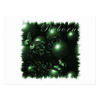 Verde cristiano del arte de las mariposas postales