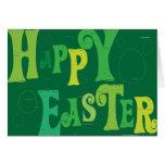 Verde cristiano Pascua feliz del ~ de la tarjeta d