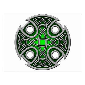 Verde cruzado y gris del St. Brynach Postal