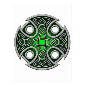 Verde cruzado y gris del St. Brynach Postales