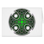 Verde cruzado y gris del St. Brynach Tarjetas
