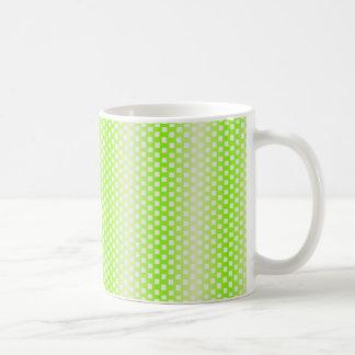 verde cuadrado del modelo taza