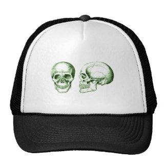 Verde de 2 cráneos gorras
