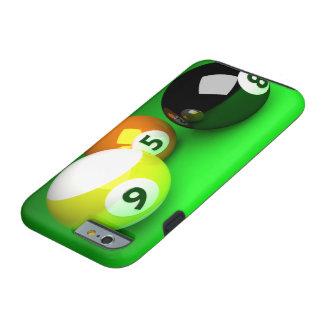 Verde de 9 de la bola 3D bolas de piscina Funda De iPhone 6 Tough