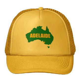 Verde de Adelaide y casquillo del mapa del oro Gorros