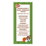 Verde de All Star de 25 tarjetas del menú Tarjeta Publicitaria
