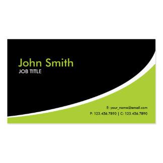 Verde de alta tecnología simple llano moderno plantilla de tarjeta de negocio