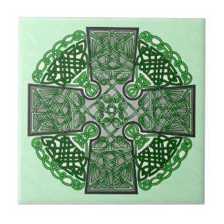 Verde de Art Cross del Celtic Azulejos Cerámicos