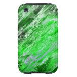 Verde de Astro del arte de Absract Tough iPhone 3 Cárcasas