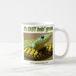 Verde de Bein mamba Tazas De Café