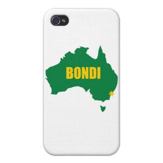 Verde de Bondi y mapa del oro iPhone 4 Protector