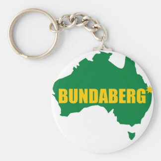 Verde de Bundaberg y mapa del oro Llavero Redondo Tipo Pin