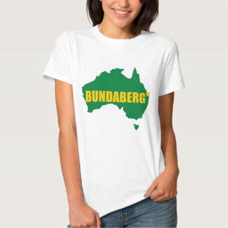 Verde de Bundaberg y mapa del oro Playeras
