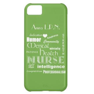 Verde de /Celery de las Enfermera-Cualidades de la Carcasa iPhone 5C