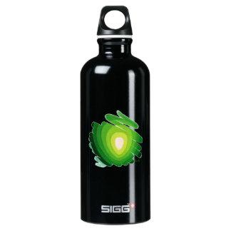 Verde de Chakra del corazón en la botella de agua