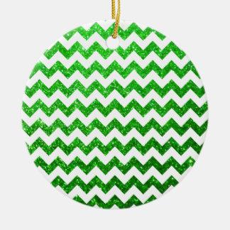 Verde de Chevron del brillo Ornamentos Para Reyes Magos