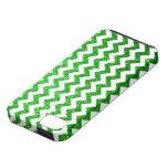 Verde de Chevron del brillo iPhone 5 Carcasas