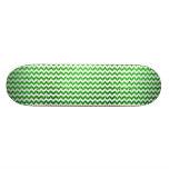 Verde de Chevron del brillo Patineta Personalizada